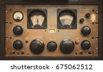 the old classic rack box of... | Shutterstock . vector #675062512