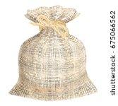 linen woven fabric sack. flax... | Shutterstock .eps vector #675066562