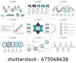 business data visualization.... | Shutterstock .eps vector #675068638