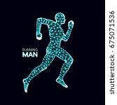 3d running man. design for... | Shutterstock .eps vector #675071536