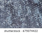 Background Of Old Stone Roof...