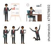 businessman character design... | Shutterstock . vector #675078832