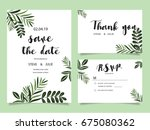 wedding invitation card... | Shutterstock .eps vector #675080362