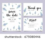wedding invitation card... | Shutterstock .eps vector #675080446