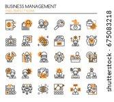 business management elements  ... | Shutterstock .eps vector #675083218