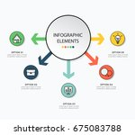 infographic design with icon...   Shutterstock .eps vector #675083788