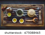 oolong tea ceremony | Shutterstock . vector #675088465