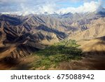 mountain view of leh ladakh... | Shutterstock . vector #675088942