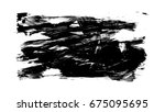 brush stroke and texture. smear ... | Shutterstock . vector #675095695