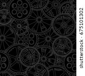 figure gears on a black... | Shutterstock . vector #675101302