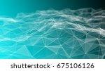 3d rendering abstract... | Shutterstock . vector #675106126