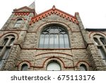 ancient cathedral in isle of... | Shutterstock . vector #675113176