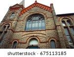 religious cross background. a... | Shutterstock . vector #675113185