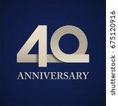 40 years anniversary paper... | Shutterstock .eps vector #675120916