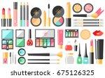 vector flat cosmetics set.... | Shutterstock .eps vector #675126325