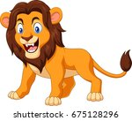 cartoon angry lion | Shutterstock .eps vector #675128296