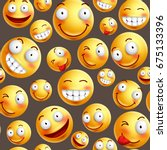smiley pattern vector... | Shutterstock .eps vector #675133396