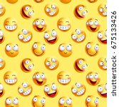 vector smileys wallpaper... | Shutterstock .eps vector #675133426