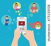 global data sharing data... | Shutterstock .eps vector #675133528
