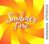 summer time vector banner... | Shutterstock .eps vector #675134122