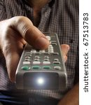 remote controller in a hand. ... | Shutterstock . vector #67513783