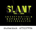 vector of modern stylized font... | Shutterstock .eps vector #675137956