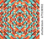 abstract geometric vector... | Shutterstock .eps vector #675138502