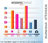 infographics design template... | Shutterstock .eps vector #675141616