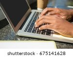 cropped hands of businessman... | Shutterstock . vector #675141628