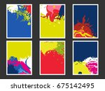 abstract fluid colors poster... | Shutterstock .eps vector #675142495