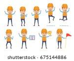 set of construction worker...   Shutterstock .eps vector #675144886