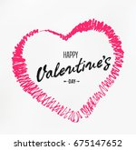 happy valentine's day card | Shutterstock .eps vector #675147652