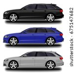 realistic car. station wagon.... | Shutterstock .eps vector #675147682