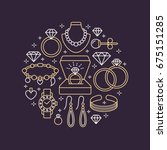 jewelry shop  diamond... | Shutterstock .eps vector #675151285