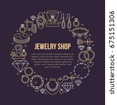 jewelry shop  diamond... | Shutterstock .eps vector #675151306