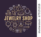 jewelry shop  diamond...   Shutterstock .eps vector #675151318