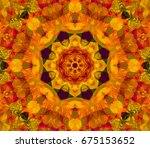 abstract scarlet fractal with... | Shutterstock . vector #675153652