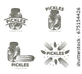 pickles logo set for your... | Shutterstock .eps vector #675154426