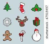 vector christmas icons   Shutterstock .eps vector #67515457