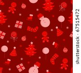 vector christmas pattern... | Shutterstock .eps vector #67515472