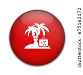 baggage holiday island icon | Shutterstock .eps vector #675162172