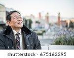 japanese senior old man... | Shutterstock . vector #675162295