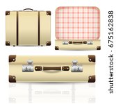 open and closed old retro... | Shutterstock .eps vector #675162838