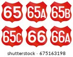 collection of road markings for ...