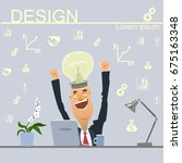 businessman came the idea.... | Shutterstock .eps vector #675163348