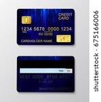 modern realistic credit card... | Shutterstock .eps vector #675166006