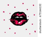 sexy lips. vector illustration | Shutterstock .eps vector #675166132