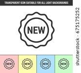 simple outline transparent new... | Shutterstock .eps vector #675175252