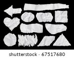 white paper torn compilation | Shutterstock . vector #67517680
