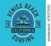 venice beach surf typography ...   Shutterstock .eps vector #675177022